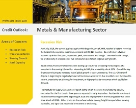 Credit Risk Outlook: Metals & Manufacturing Sector